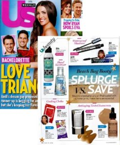 US Weekly, July 2014 - Print magazine featuring ORGO Mint Sanitizing Spray