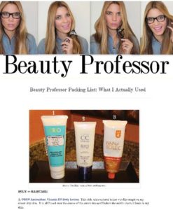 Beauty Professor, August 2014 - Online blog post featuring ORGO Antioxidant Vitain D3 Body Lotion