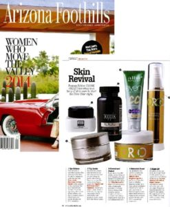 Arizona Foothills Magazine, April 14 - Print magazine featuring ORGO 30 Day Brightening System